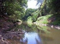 Wilson River, Eltham, a popular spot for kyackers.