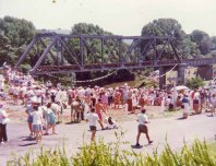 Part of the large crowd at Scrub to Pub Raft Race