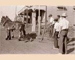 Delivering supplies to Eltham Pub 1940's.